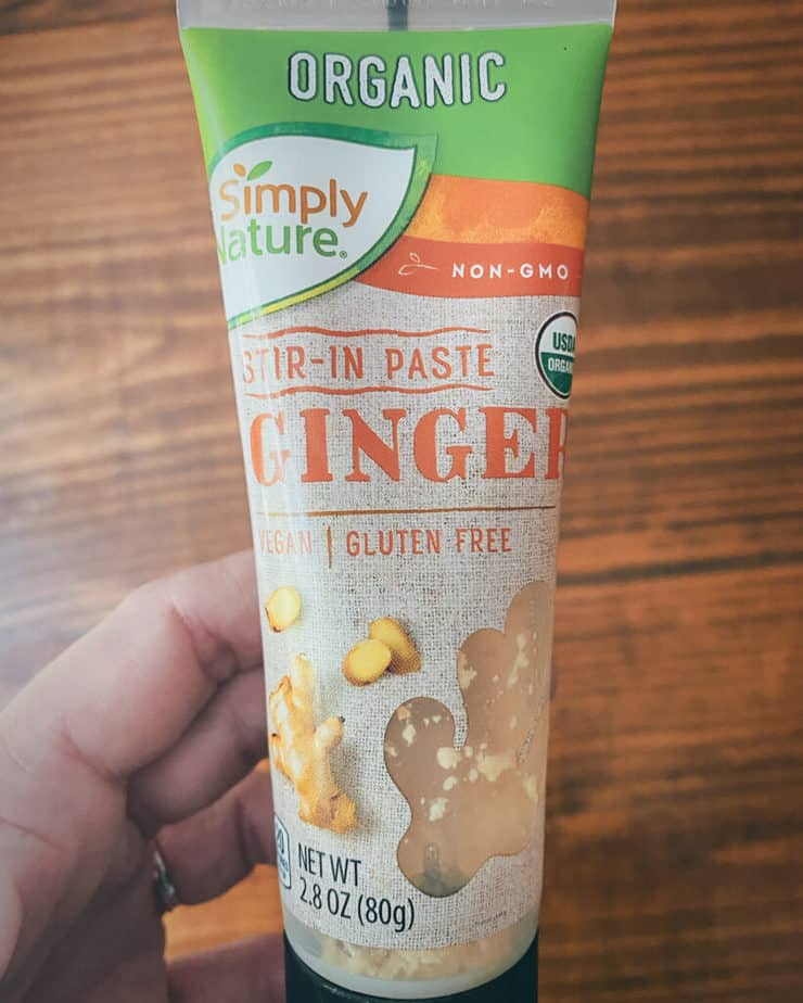 A tube of Simply Nature's organic Stir-In Paste Ginger. I always have a tube on hand!