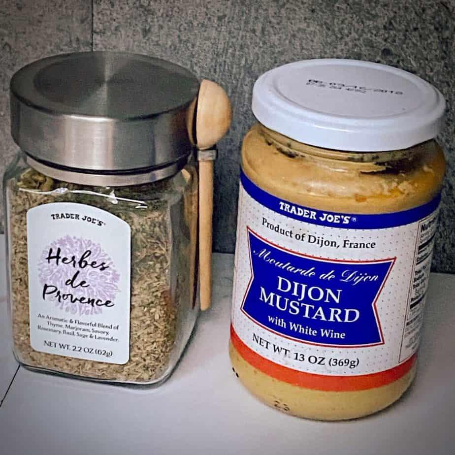 trader joe's herbes de provence and dijon mustard