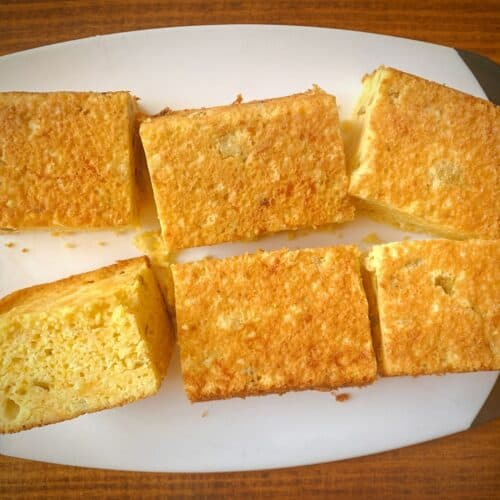 6 slices of easy chili cheddar cornbread