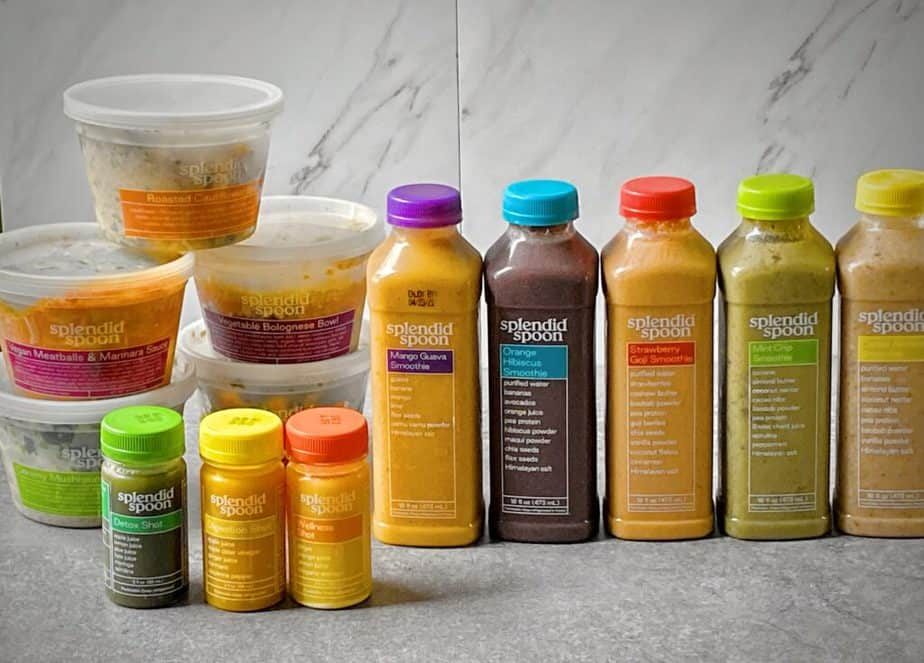 5 bowls, 5 smoothies and 3 shots received as entire shipment from splendid spoon