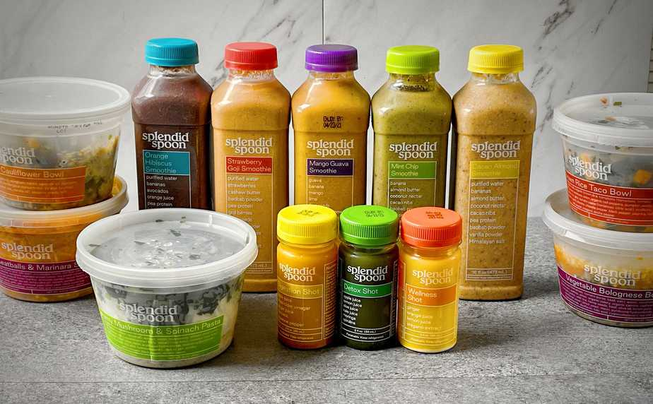 5 bowls, 5 smoothies and 3 shots from splendid spoon
