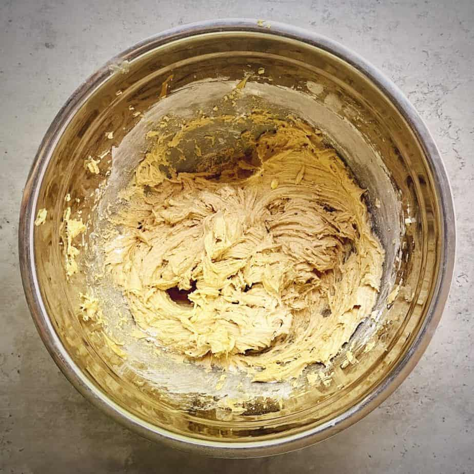 cookie dough after adding dries