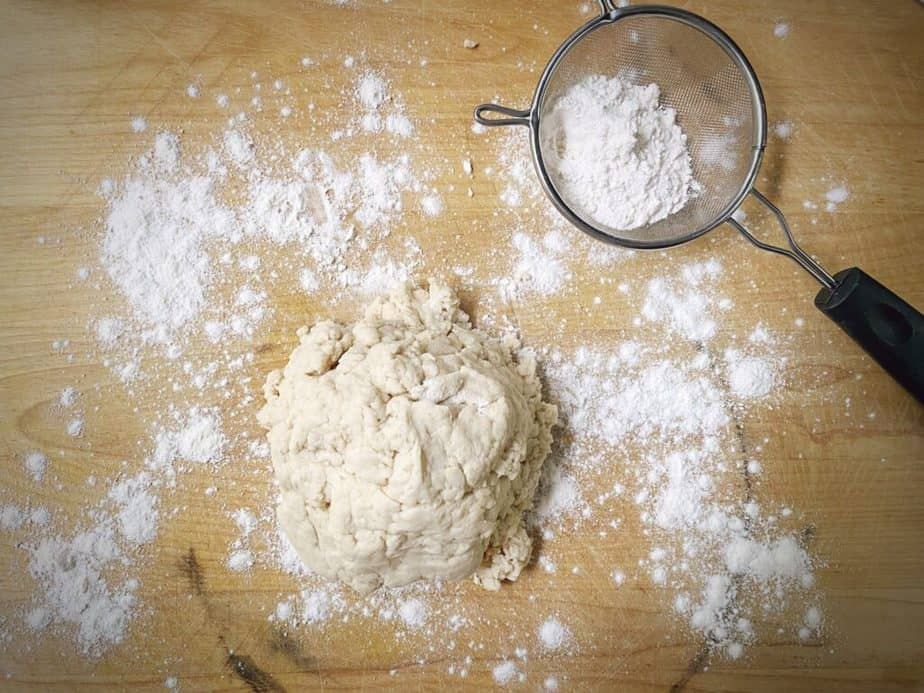dough turned out onto floured work surface