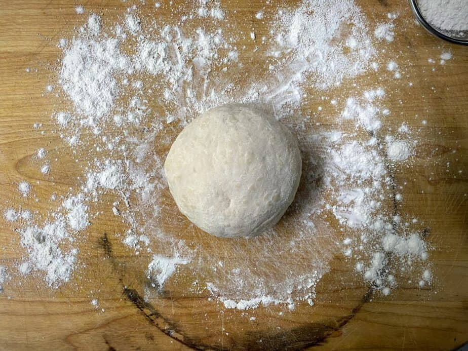 dough after kneading into a smooth ball